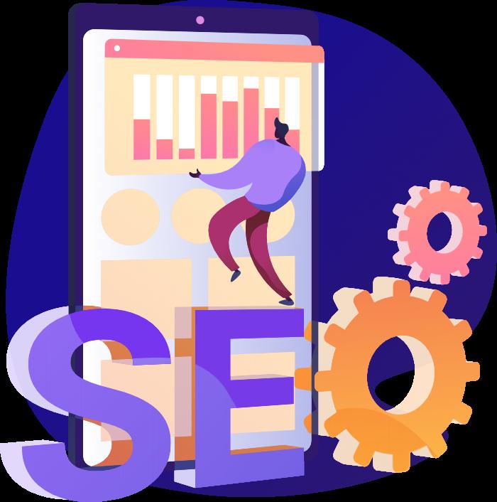 Search Engine Optimization Illustration SEO