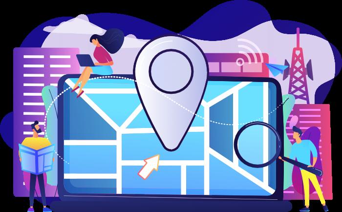 Search Engine Optimization Illustration Map