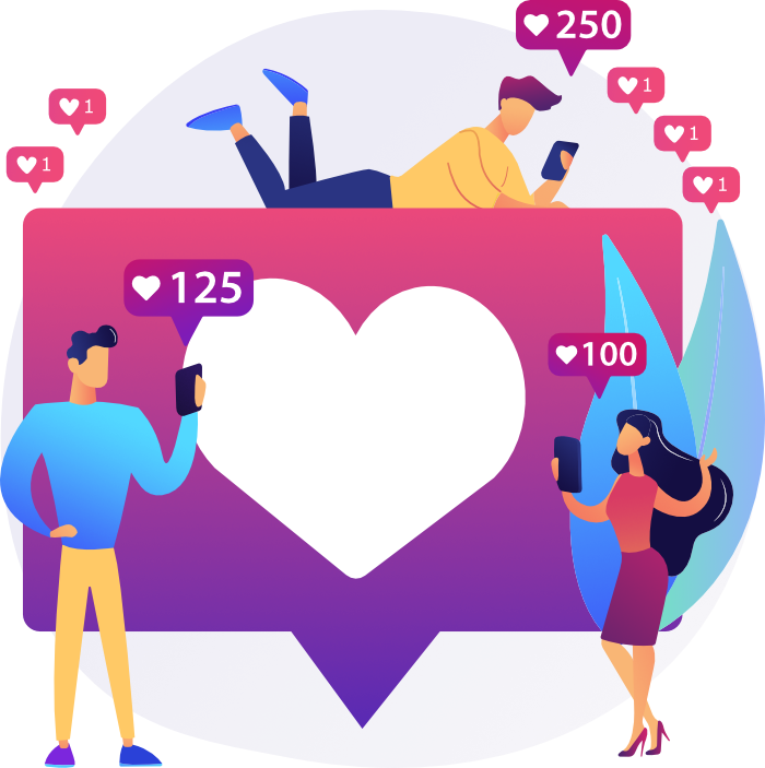 Social Media Illustration Likes