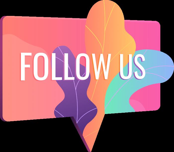 Social Media Illustration Follow Us