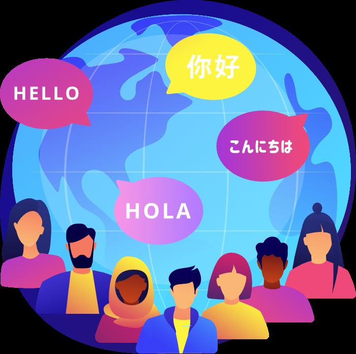 Translation and Localization Illustration